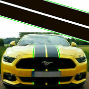 Sporty Racing Stripe Hood Roof Trunk Decor Stickers For Ford Mustang 2015-2020