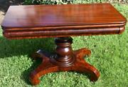 1820s Antique Empire Very Heavy Mahogany Game Table / Console Table