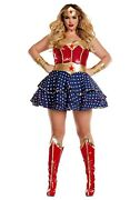Womenand039s Plus Size Wonder Woman Sweetheart Costume Size 2x 3x With Defect