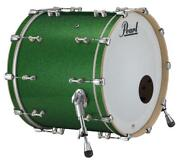 Pearl Music City Custom Reference Pure 26x14 Bass Drum W/o Bb3 Mount Green Gla