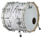 Pearl Music City Custom Reference Pure 20x14 Bass Drum Black N White Oyster Rf