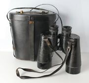 Bausch And Lomb Binoculars 7x50 Wwii Us Navy Mod.6 C1940 With Case