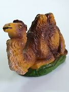 Vtg Italy Paper Mache Composite Nativity Sitting Camel Figure Seated 2 Humps