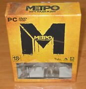 Metro Last Light Pc, 2013 Russian Collectors Edition New And Sealed Read Below