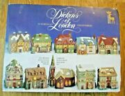 1991 Dickens London Collectables Set Of 10 Miniature Lighted Christmas Houses