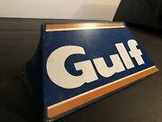 Rare Vintage Original Gulf Tire Metal Display Stand Sign Gas And Oil