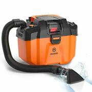 Moosoo Shop Vacuum Wet And Dry 2.64 Gallon Cordless Shop Vac With Blower Function