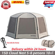 Inflatable Camping Tent Cloud Nest 15d Pergola Sunscreen Outdoor Beach Family