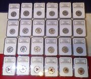 Collection Of 24 1931-1948 Ngc Ms 60- Ms 66 Shamrock Dairy Merchant Tokens