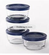 Anchor Hocking 1-cup Round Glass Food Storage Containers With Plastic Lids Set