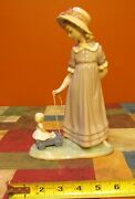 Playtime Lladro 5044 Pulling Dolls Carriage Retired - Excellent/mint