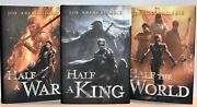 Signed Matched Set Half A King Half The World And Half A War Joe Abercrombie