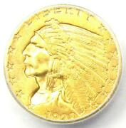 1928 Indian Gold Quarter Eagle 2.50 Coin - Icg Ms66 - 12400 Guide Value