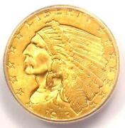 1913 Indian Gold Quarter Eagle 2.50 Coin - Certified Icg Ms65 - 4500 Value