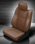Jeep Grand Cherokee Limited Overland Mahogany Leather Seat Replacement Covers