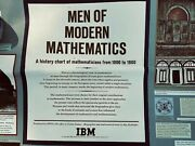 1966 Rare Men Of Modern Mathematics Poster By Charles Eames For Ibm 12'4 X 24