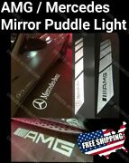 ⭐mercedes Amg Projector Side Mirror Puddle Welcome Light C E Glc Class C63s E63s