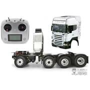 Lesu 1/14 Diy Rc Tractor Truck Metal Chassis Hercules Highline Scania Cab Fs I6s