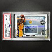 2009-10 Panini Limited Glass Cleaners Autograph Auto On Card Kobe Bryant Psa 8