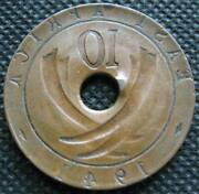 East Africa 10 Cents 1941 Coin Mint Error