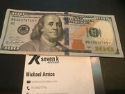 100 Dollar Bill Star Note Series 2013 Rare Great Condition 4 6and039s