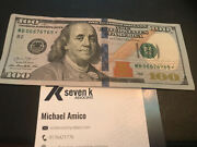 100 Dollar Bill Star Note Series 2013, Rare, Great Condition 4 6's