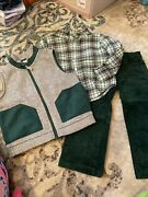 Euc Janie And Jack Sweater Vest, Button Down And Cord Set, 2t