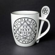 Witch Coffee Cup And Spoon And039hexyand039 Sexy Witch Tea Cup Set Alchemy Gothic 197