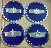 Caprice Wire Wheel Chips Emblems 4 Blue And Chrome Metal Size 2.25 Zenith Style