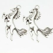 Pendant Horse Antique Silver Charms Diy Pewter Jewelry Making Supplies 5 Pcs