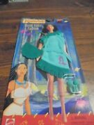 Pocahontas Earth Dance Outfit Set In Green For Barbie Sized Doll