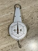 Vintage Hanging Scale Welch Scientific Co. Chicago Grams. Metal Dial Industrial