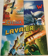 Lego 2013 Legends Of Chima Laval Cragger Worriz Fire Ice Double/s Lot Of 4poster