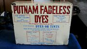 1927 Putnam Fadeless Dyes Tints Store Advertising 19 Counter Display Cabinet