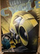Light Cycle Races Tron Giclee Canvas Print Mike Kungl Signed And Numbered Disney