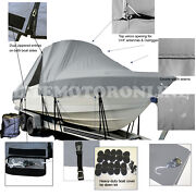 Cobia 330 Duel Console T-top Hard-top Fishing Storage Boat Cover