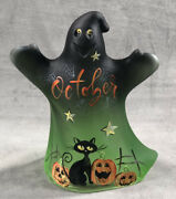 Fenton Glass Halloween Ghost Hand Painted By Fenton Artist M. Kibbe 1 Of 25