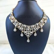Full Victorian Diamond Polki Jewelry Sold 925 Sterling Silver And Yellow Gold