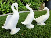 Nao By Lladro Porcelain Goose Geese Birds Figurines Set Of 3