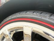Set Of 4 Vogue Tyre 235-55r17 Mayo And Ketchup Limited Edition Red Stripe Tires