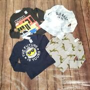 New Lot Of 4 Old Navy Long Sleeve Tshirts Toddler Boys Size 3t Vehicles Tie Dye