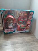 Kindi Kids Summer Peaches Fun Oven Doll And 5 Exclusive Shopkins Playset