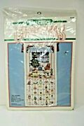 Bucilla Christmas Advent Calendar Toy Shoppe Counted Cross Stitch 82760 Unopened