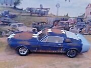 118 Scale Diecastcustom Weathered Barn Find Blue1967 Shelby Gt 500 Mustang