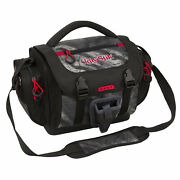 Fishing Tackle Bag Large W/ 4 Lure Box Container Gear Storage Pockets Black Camo