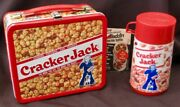 Vintage Cracker Jack Lunchbox And Thermos - 1st Junk Food 1979 C-9.5 Mint Wow