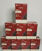 8 New Boxes Holiday Living Purple 100 Ct Mini Light String 21.9' In Or Outdoor