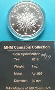 Girl Scout Cookies Mint Cannabis Series 1 Oz. Silver Round .999 Only 200 Minted