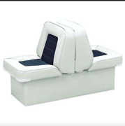 Bucket Style Wise Back To Back Lounge Boat Storage Padded Seat In Navy/white