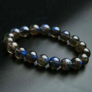 Top Quality Natural Blue Light Labradorite Crystal Round Bead Bracelet 11mm Aaaa